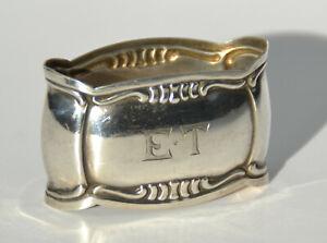 Serviettenring 800 Silber Et Mongramm Napkin Ring Modern Und Elegant In Mode Silber, 800er- 925er