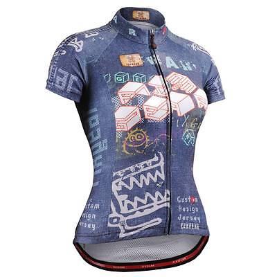 FIXGEAR CS-W1502 Women s Short Sleeve Cycling Jersey Bicycle Roadbike MTB 5029bd591