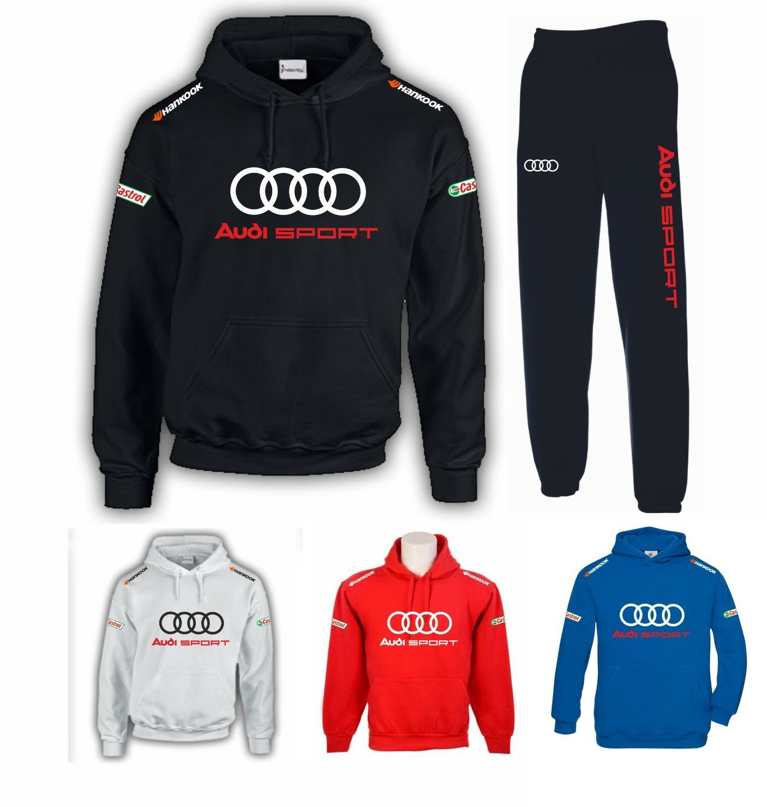 HOODIE TROUSERS AUDI S LINE A3 A4 A5 A6 RS SPORT RACING COD155