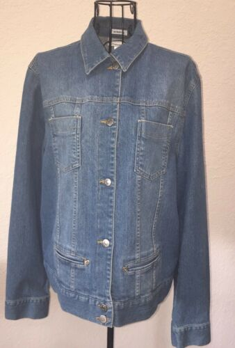 Jean Jones Blue Stretch New Sport Size Jacket Medium York qwwxAIrFp