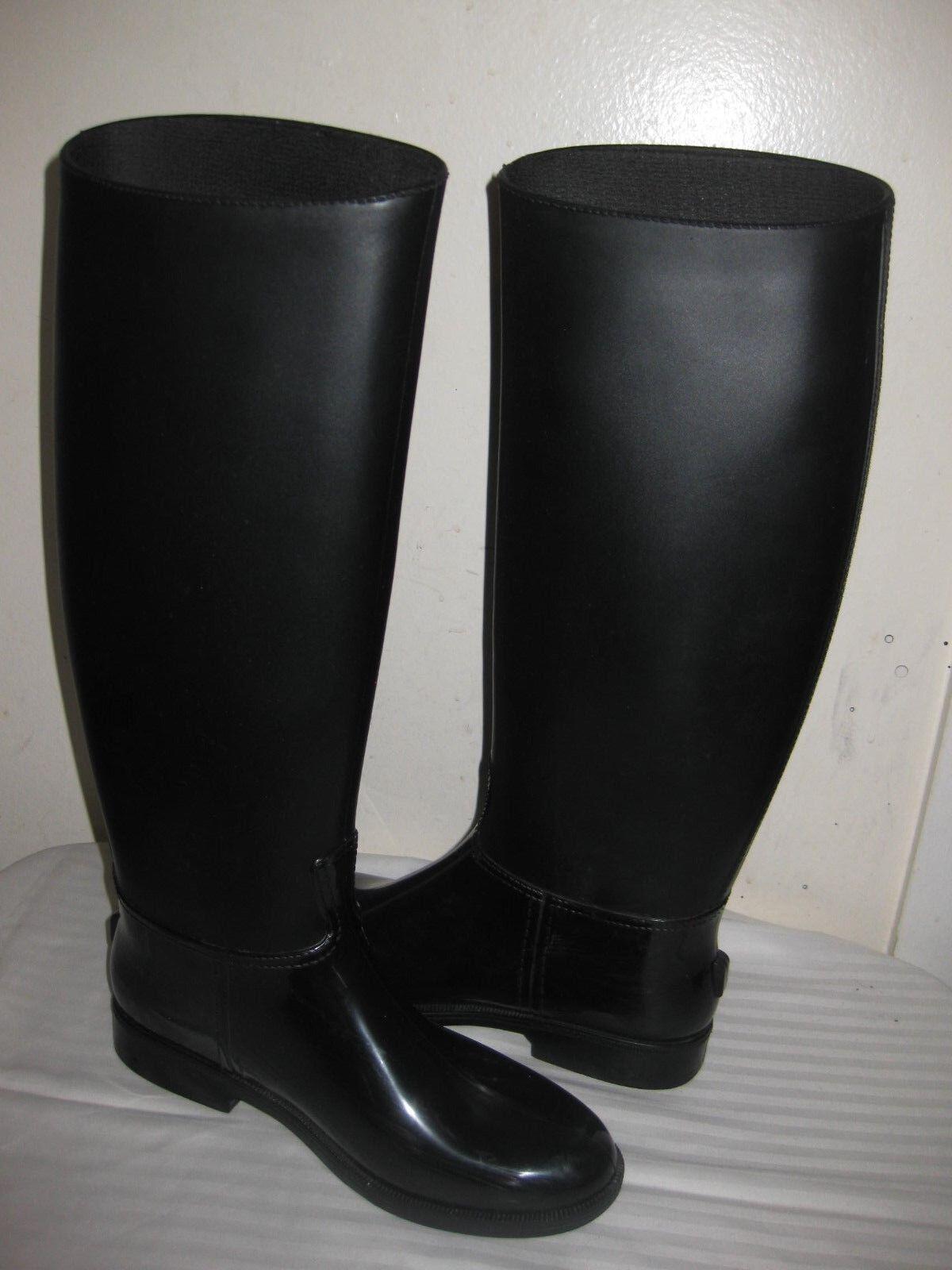 Auténticos Emporio botas De Lluvia De Goma Negra Emporio Auténticos Armani Talla 38 7.5 - 8 Hecho en Italia 914f2a
