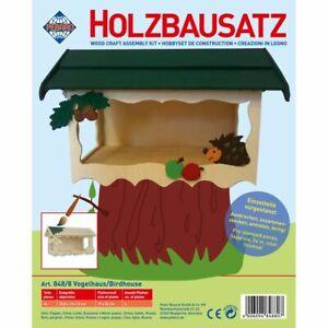 PEBARO-Vogelhaus-Holzbausatz-aus-Lindenholz-stabilen-Spechtsicheres-Einflugloch
