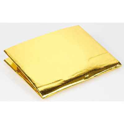 "12/"" x 12/"" Self Adhesive Reflective Gold High Temperature Heat Shield Wrap Tape"