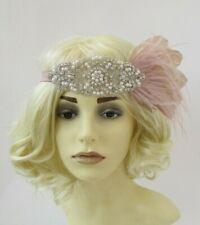 Nude Silver Ivory Headband Headpiece Vintage 1920s Great Gatsby Flapper 30s 3599