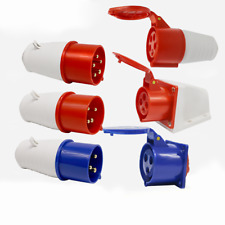 Industrial Connector Malefemalesurfacepanel Socket Ip44 345pin Waterproof