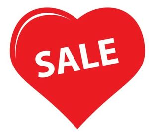 SALE Shop Window Vinyl Sticker Heart Advertising Retail Sign Decals