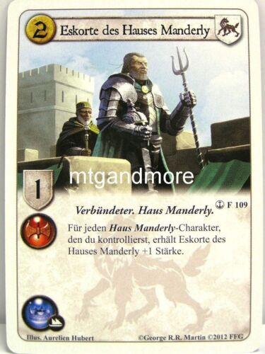 à la fin du voyage A Game of thrones lunaires 1x escorte de la maison Manderly #109