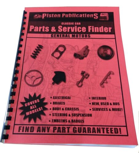 1973 1974 1975 1976 1977 1978 Chevy Parts /& Service Locating Book ALL Models