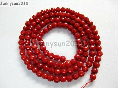 Red Natural Coral Gemstone Round Spacer Beads 16'' 2mm 3mm 4mm 5mm 6mm 7mm 8mm