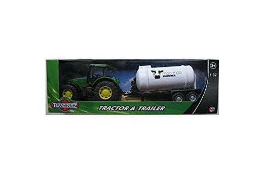 Teamsterz Tractor And Trailer Set - Green Tractor & Trailer (HL234)