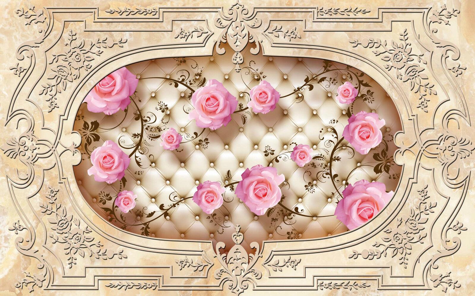 3D Motif Vigne Rose Mural 305 Décor Mural Rose Murale De Mur De Cuisine AJ WALLPAPER FR a4e9d3