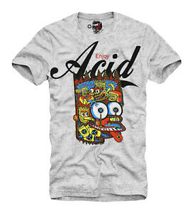 Details about E1SYNDICATE T SHIRT ENJOY ACID LSD MDMA MESKALIN 2C B AL LAD  DMT MEO 3457