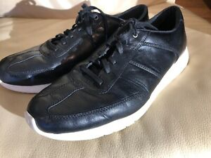 mens cole haan zero grand os black leather casual shoes
