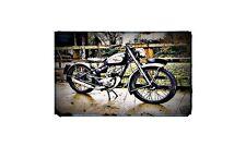 1952 royal enfield flying flea Bike Motorcycle A4 Retro Metal Sign Aluminium