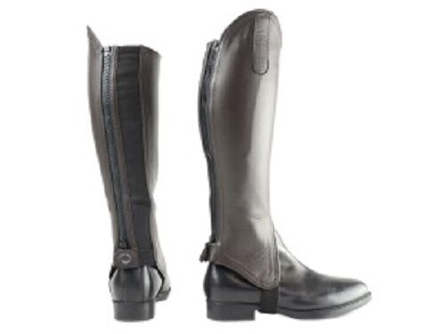 HY LEATHER GAITERS FOR HORSE RIDERS HIGH QUALITY CLOSE FITTING VARIOUS SIZES
