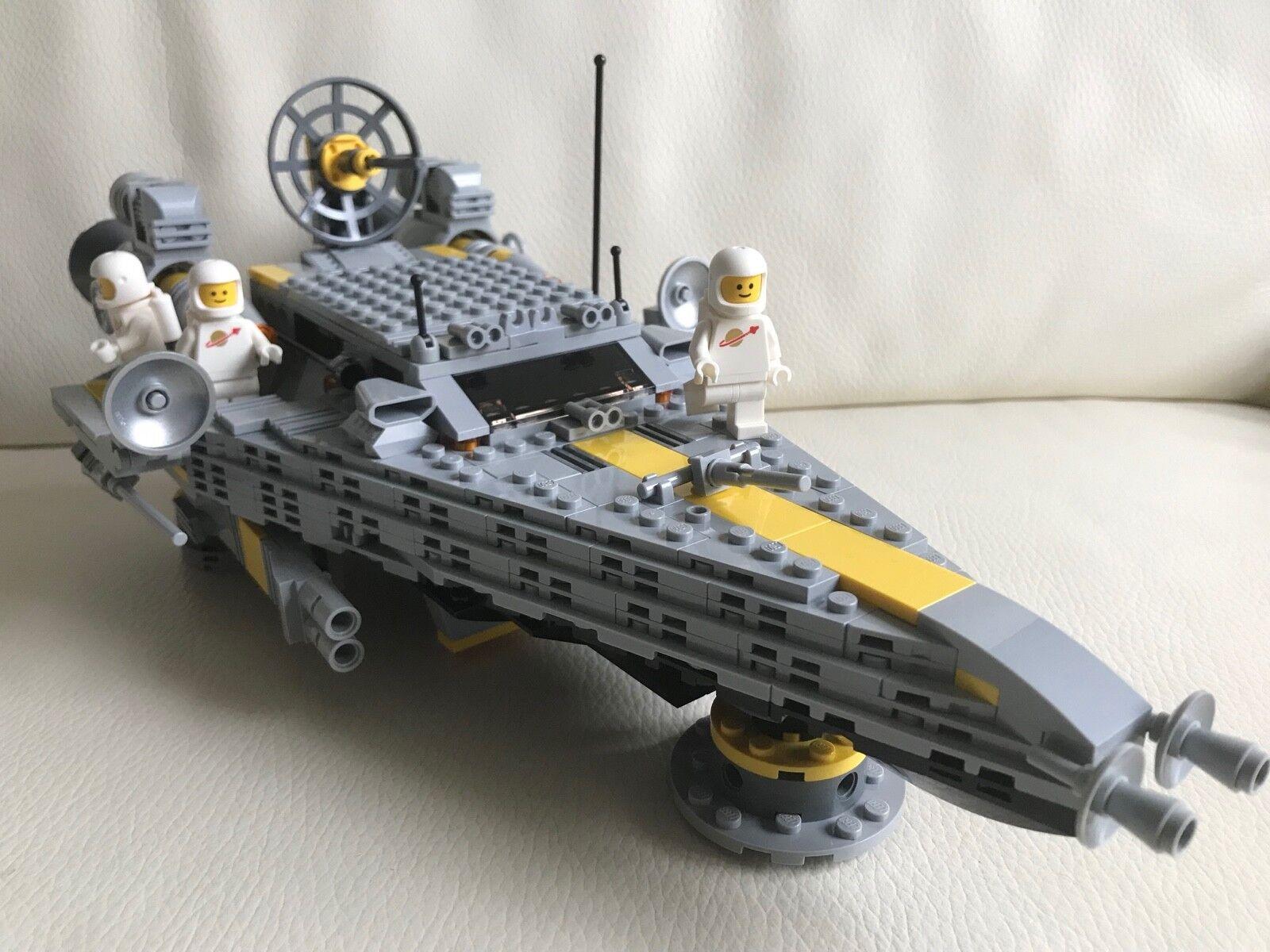 LEGO SPACE - CRUISER SPACESHIP - my design + 3 CLASSIC Weiß SPACEMEN