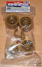 Tamiya 54525 F104 Wheels (for Sponge Tires/Tyres/Gold) (F104X1/F104V.2), NIP