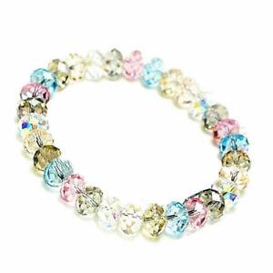 Neu-Kristall-Perlenarmband-Damen-Armband-Strass-Gummizug-Schmuc-Modeschmuck-F8T5
