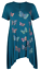 Plus-Size-Ladies-Short-Sleeve-Butterfly-Print-Dip-Hanky-Hem-Casual-T-Shirt-Top thumbnail 11