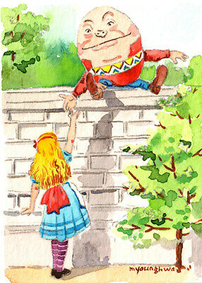 "Nursery decor idea Art print 2.5/""x3.5/""-Alice/'s adventures in wonderland"