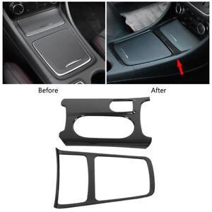 Carbon-Fiber-Storage-Box-Frame-Cover-Trim-For-Mercedes-Benz-A-GLA-CLA-Class-X156