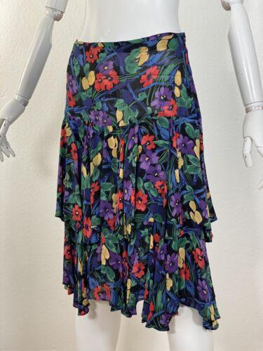 Vintage 1980s Does 1930's Norma Kamali Floral Skir