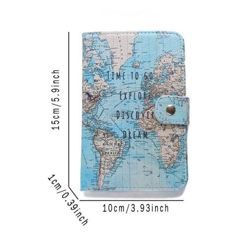 Carte Passport Cover Creative ID carte bancaire Sac Porte-passeport Luggage Tag #H
