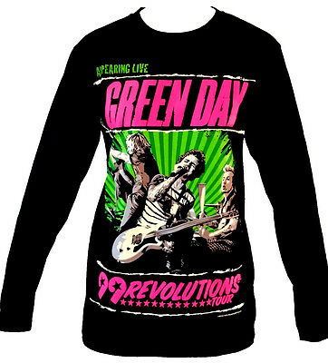 Green Day Revolutions Rock Band Long Sleeve Rock Band T Shirt Size M L XL New