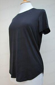 Ladies-Kirkland-Signature-Active-Tee-T-Shirt-4-Way-Stretch-Black-S-M-L-BNWT