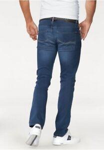 Denim L32 Usagé Bourn Fit Stretch W38 Island Blau Rhode Tuyau Slim Jeans Herren qAx8wnf1