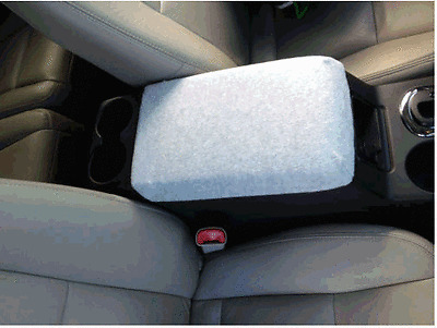 Auto Center Armrest Covers (Center Console Cover) F3 Fleece Light Gray