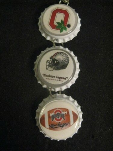 "1"" Bottle Cap Image Inside R?View Mirror Handcrafted Gift Idea Buckeyes"