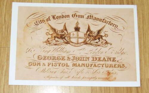 George /& John Deane GUN /& Pistola Maker Gun Case Accessori etichetta