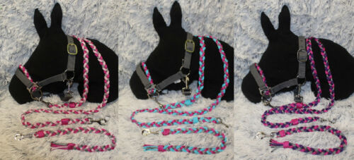 SHETTY Shetland Pony  Reithalfter gebißlose TRENSE Sidepull ZÜGEL  versch.Farben