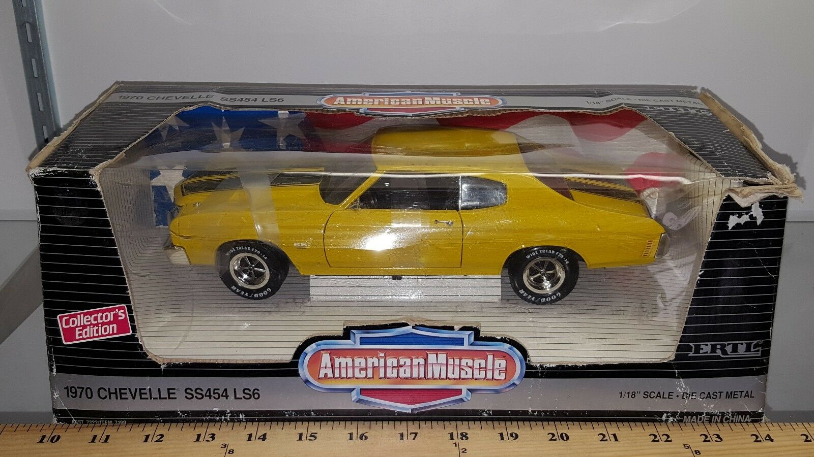 1 18 Ertl American Muscle 1970 Chevrolet Chevelle SS454 SS454 SS454 LS6 Amarillo rd 3 870321