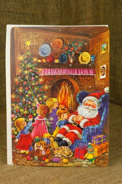 Kruger Germany Christmas Advent Calendar Santa Tree Kids Open Flaps Daily Vtg