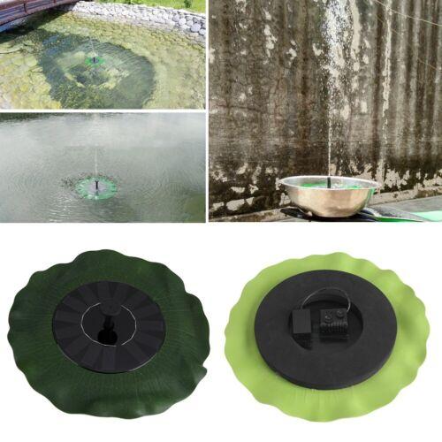 Solar Powered Fountain Bird Bath Fountain Pump Outdoor Garden Pond Pool Watering
