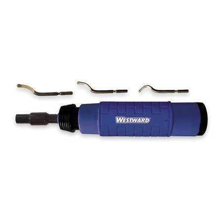 Westward 4Ktv1 Deburring Tool Kit,Series E,5 Pcs