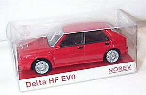 Lancia Delta HF Evo 2 1993 in Red  1-43 scale new in box Norev