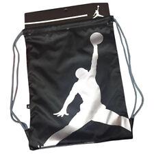 032a42603cf0ee item 1 Nike Air Jordan Jumpman Gym Sack Drawstring Bag Backpack  Black Silver 9A1940-023 -Nike Air Jordan Jumpman Gym Sack Drawstring Bag  Backpack ...