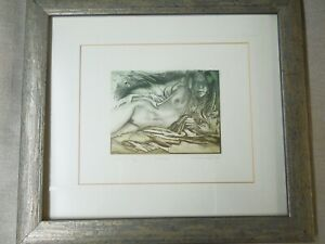 "Nude etching. Ltd Edition ""Model"" by  Vineta Dzervite;  09 /100 Framed"
