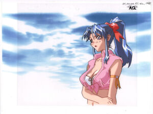 Voltage-Fighter-Gowcaizer-Anime-Production-Cel-Douga-Shaia-Bust-Up-1996-Neo-Geo