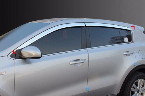 Chrome Window Sun Visor Vent Wind Rain Guard 4P For 2017 Kia Sportage QL