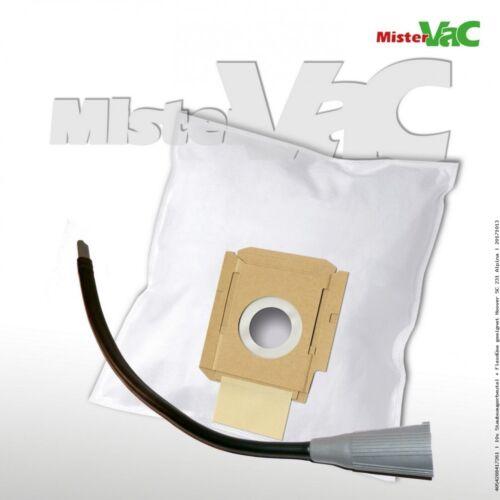 10x Staubsaugerbeutel + Flexdüse geeignet Hoover SC 192 Alpina
