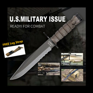 Military-Combat-Knife-Ontario-OKC3S-Fixed-Blade-Hunting-Tactical-Knife-Sheath