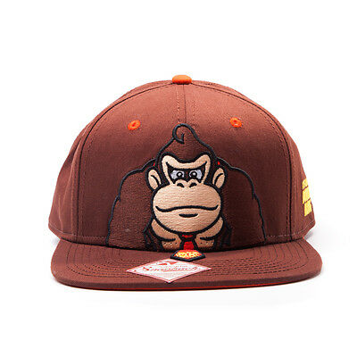 OFFICIAL SUPER MARIO BROS IT'S ON LIKE DONKEY KONG BROWN SNAPBACK CAP HAT (NEW)