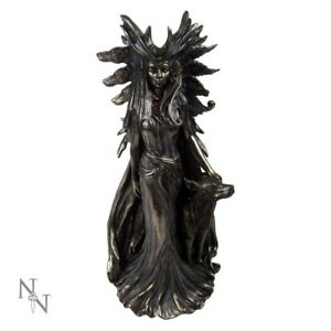 HEKATE-GREEK-GODDESS-OF-MAGIC-COLD-CAST-BRONZE-GREAT-DETAILS