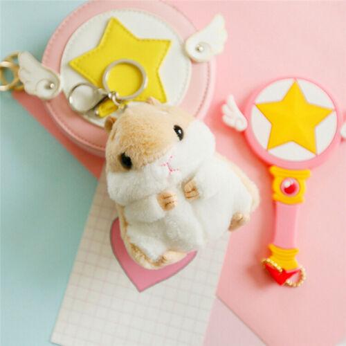 2017 Trinket Mini Hamster KeyChains Women Fluffy Toy Doll Car Key Ring Keychain~