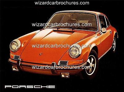 1972 PORSCHE 911 2.4 A3 POSTER AD SALES BROCHURE ADVERTISEMENT ADVERT