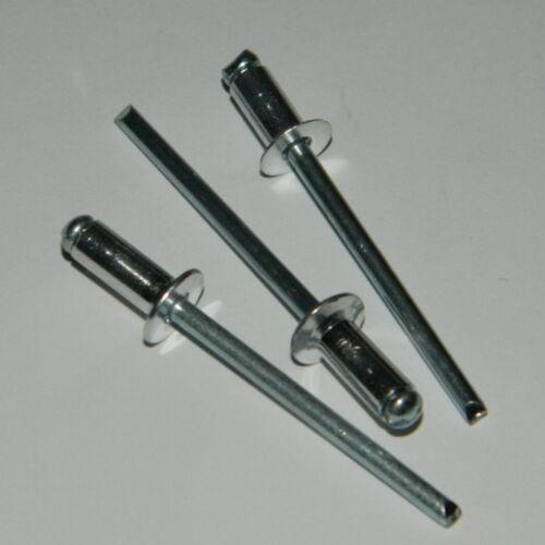500 Stk Blindnieten 4x10  Alu//Stahl  Senkkopf  4,0x10 Standard TS